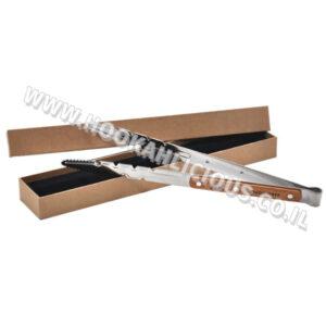 מלקחיים לגחלים Wood and Steel